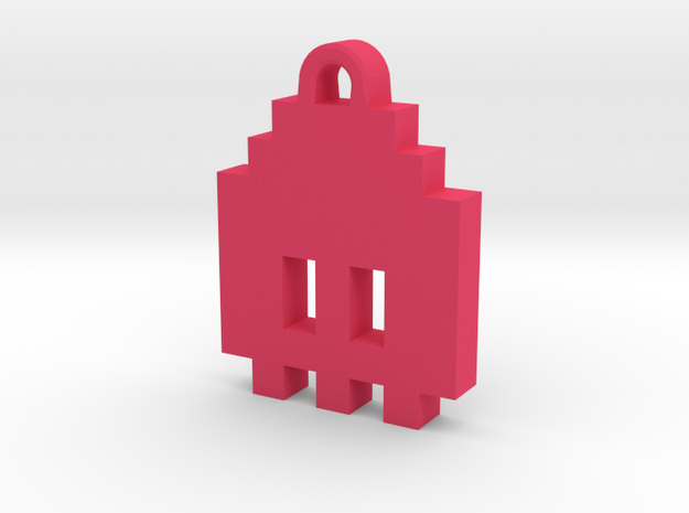Pac Man Ghost 8-bit Earring 1 (looks down) 3d printed