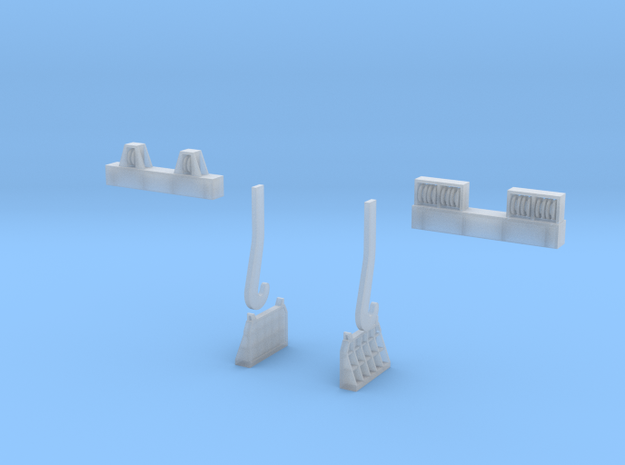 N-scale assessories for 250 ton Teeming Ladle 3d printed
