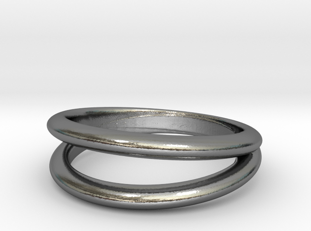 Split Band ring in Polished Silver