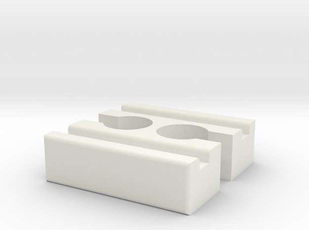 Brio F-F Connector 40mm With Marking in White Natural Versatile Plastic