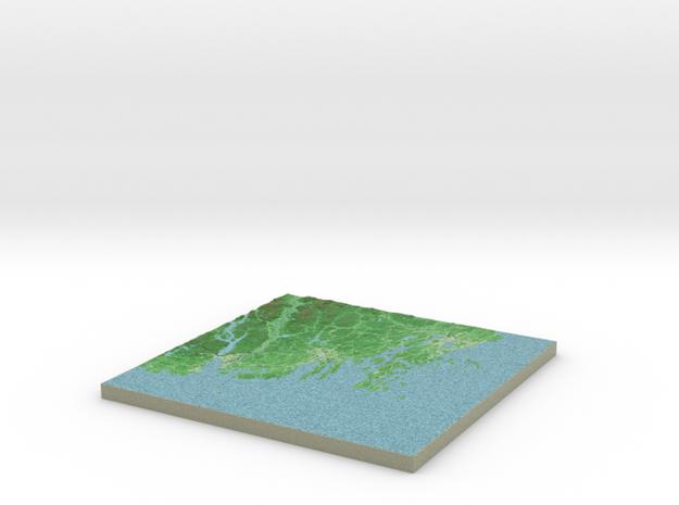 Terrafab generated model Wed Nov 06 2013 01:28:43 3d printed