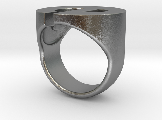 Helvetica E Ring 3d printed
