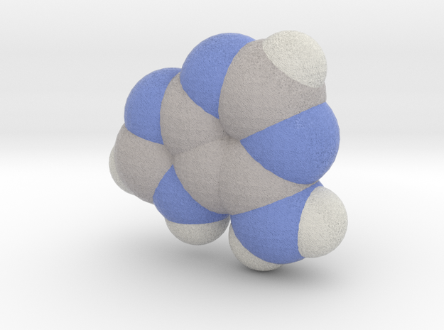 Adenine molecule (x40,000,000, 1A = 4mm) in Full Color Sandstone