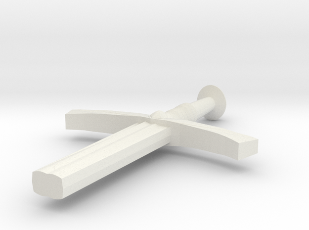 Halfsword in White Natural Versatile Plastic