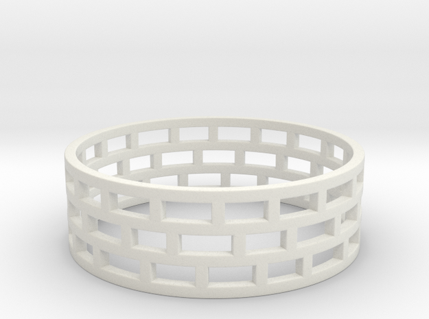 Brickwork Ring 3d printed