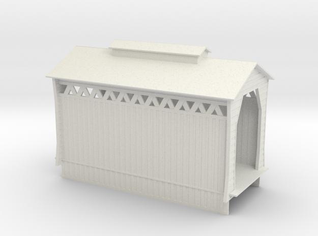 Covered Railroad Bridge - 60ft - Zscale in White Natural Versatile Plastic