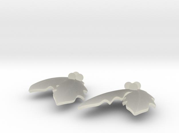 Holly Earrings 3d printed