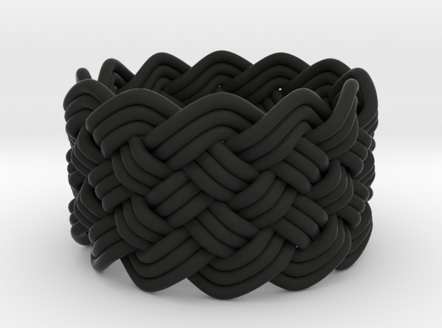 Turk's Head Knot Ring 6 Part X 12 Bight - Size 7 3d printed