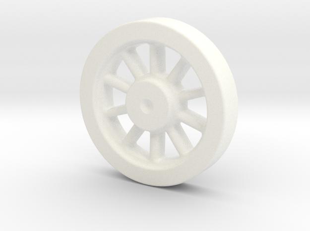 Kozo Hiraoka K-27 Driving Wheel Pattern LIVE STEAM in White Processed Versatile Plastic