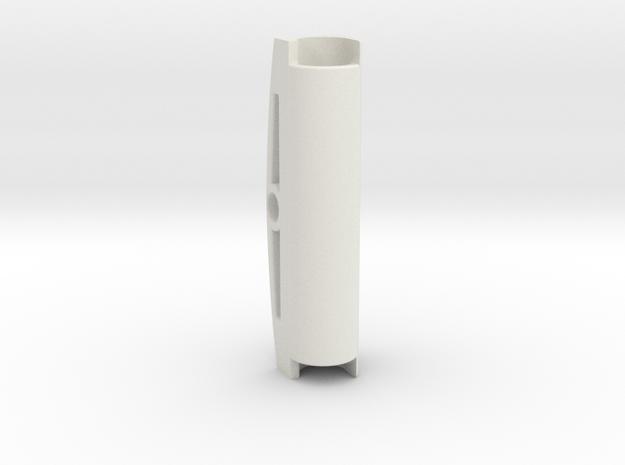 Wide Center Bar in White Natural Versatile Plastic