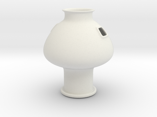 Greek Vase - Psykter - Side Openings in White Natural Versatile Plastic