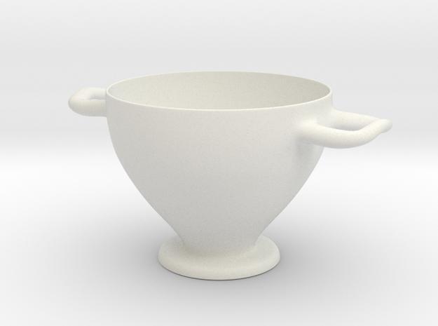 Greek Vase - Skyphos C in White Natural Versatile Plastic