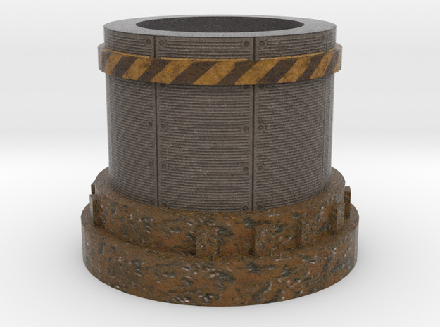 Pedestal2 for miniatures Industrial in Full Color Sandstone