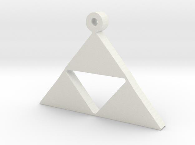 Triforce Pendent  in White Natural Versatile Plastic