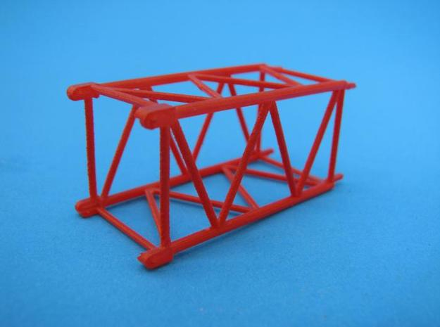 HO/1:87 Crane boom segment short 17x17 in Smooth Fine Detail Plastic
