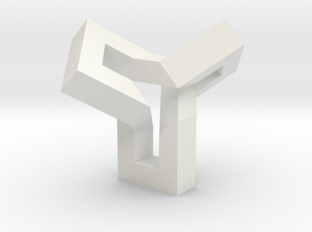 Ovonde (mirror version) in White Natural Versatile Plastic