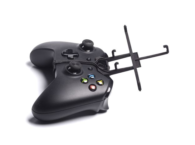 Xbox One controller & Xolo A500 3d printed Without phone - A Samsung Galaxy S3 and a black Xbox One controller