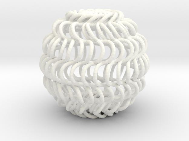 Spiral Cage in White Processed Versatile Plastic