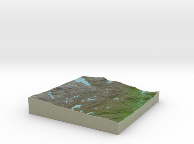 Terrafab generated model Mon Aug 18 2014 08:32:39  in Full Color Sandstone