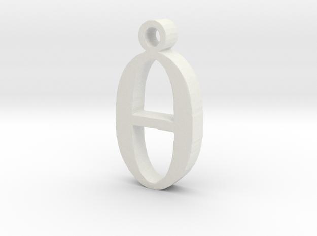 0 Necklace Pendant  in White Natural Versatile Plastic