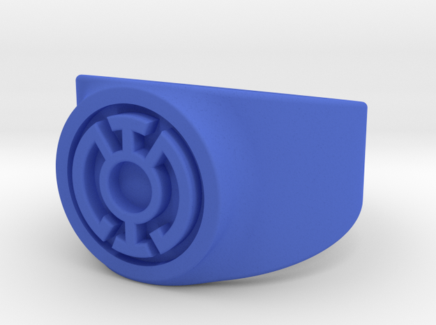 Blue Hope GL Ring (Szs 5-15) 3d printed