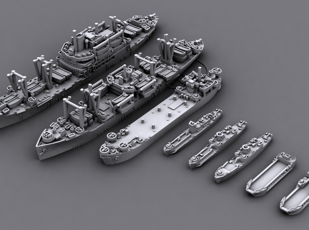 48US06 US Navy Amphibious Ships & Crafts in Frosted Ultra Detail