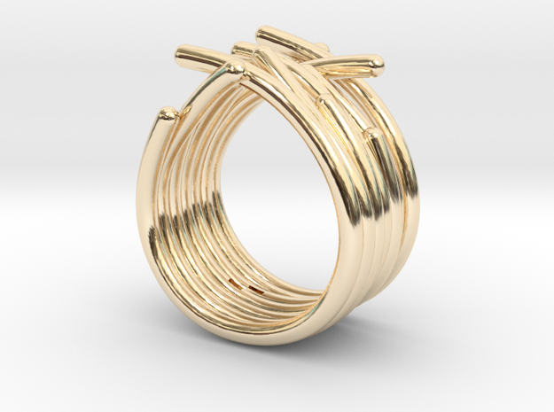 Actiniaria S55 25082014 in 14K Gold