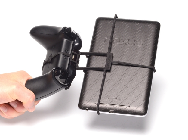 Xbox One controller & Samsung Galaxy Tab 3 10.1 P5 3d printed Holding in hand - Black Xbox One controller with a n7 and Black UtorCase