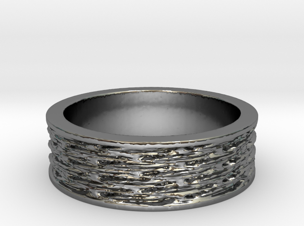 Waves of Matter and Mass Ring Size 7 in Premium Silver