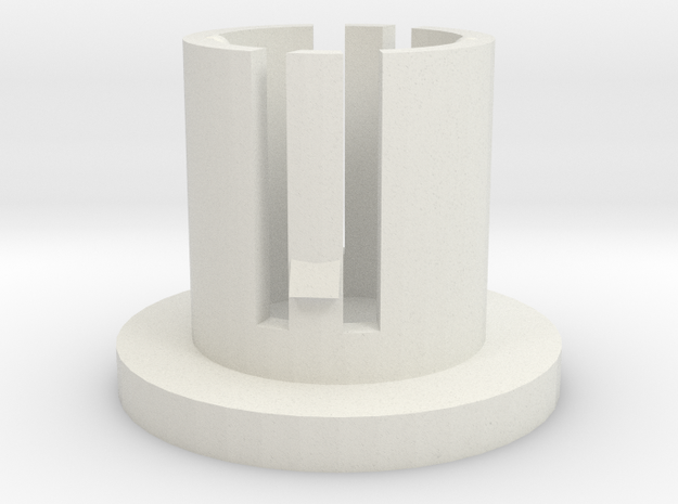Led Holder in White Natural Versatile Plastic