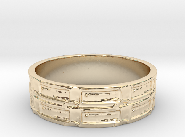 Qbit Ring Size 8 in 14K Yellow Gold
