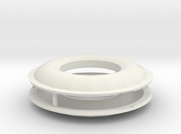 1/72 Scale SRB Heat Shields in White Natural Versatile Plastic