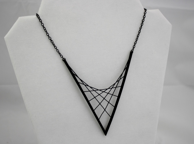 Parabolic Suspension Statement Necklace