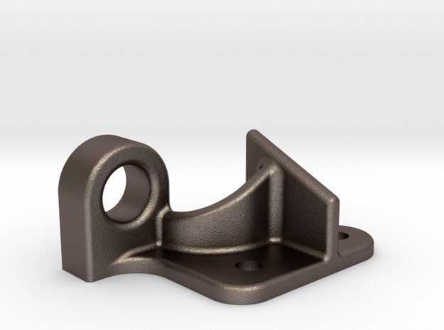 "Coupler Release Bracket B - 2.5"" scale in Polished Bronzed Silver Steel"