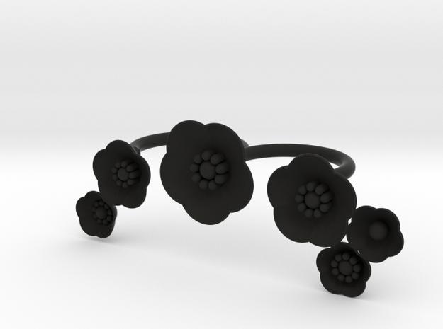 S46 Double Finger 6 FL Ring For BSF in Black Natural Versatile Plastic