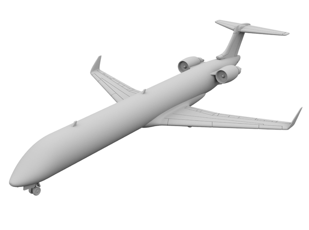 1:200 - CRJ 1000 (XL) in Smooth Fine Detail Plastic