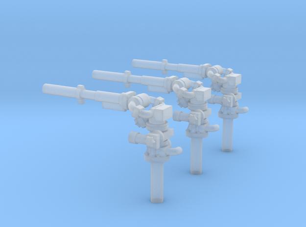 Pulverwerfer 3Stück in Smooth Fine Detail Plastic
