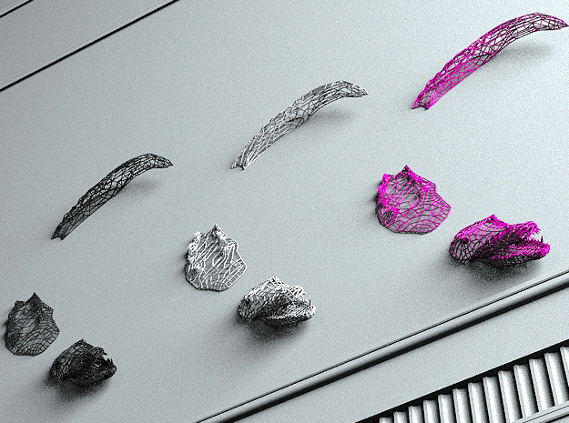 Crocodile Swimming on your wall :) in Black Natural Versatile Plastic
