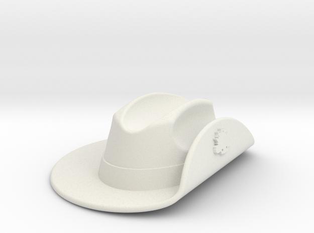 Australian WW1 Slouch Hat Gallipoli Keyring w/Slot in White Natural Versatile Plastic