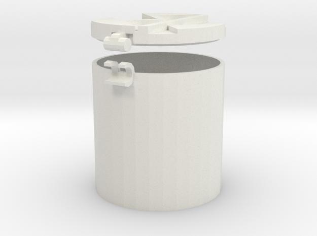 3cm Container in White Natural Versatile Plastic