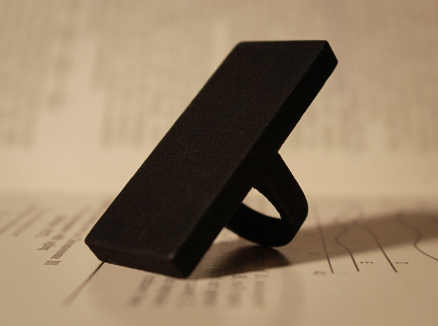 Monolith Ring in Black Natural Versatile Plastic
