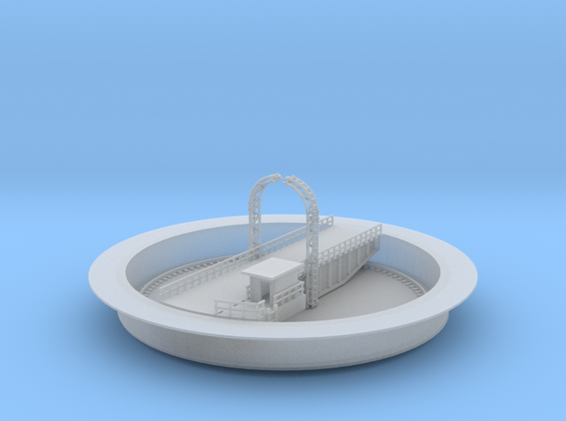 Railroad Turntable Updated 3d printed