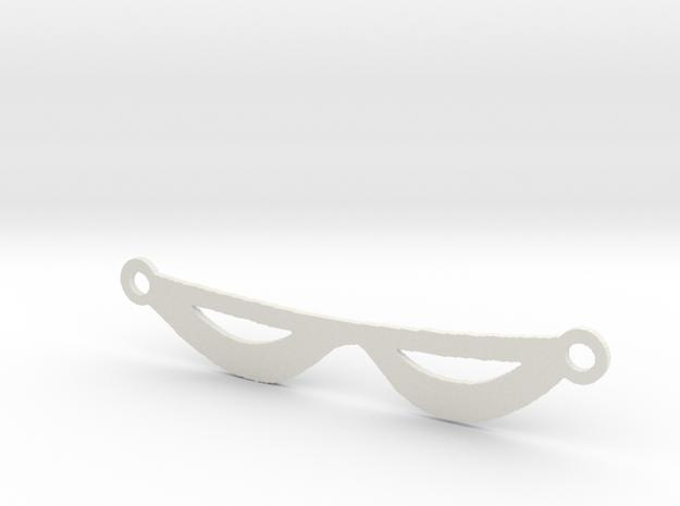 The Phantom's Eye Mask in White Natural Versatile Plastic
