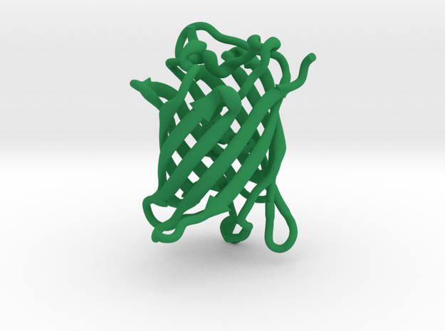 GFP green fluorescent protein molecule in Green Processed Versatile Plastic
