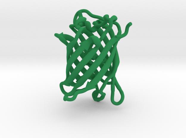 GFP green fluorescent protein molecule in Green Processed Versatile Plastic