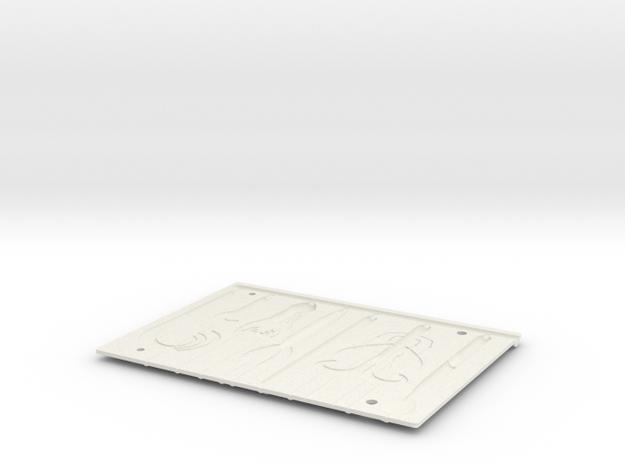 Soft Baits Machine B in White Natural Versatile Plastic