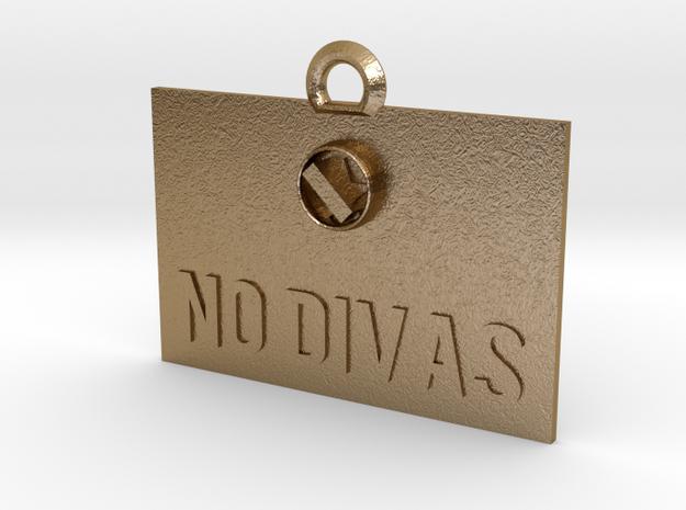 No Divas Sign(1) in Polished Gold Steel