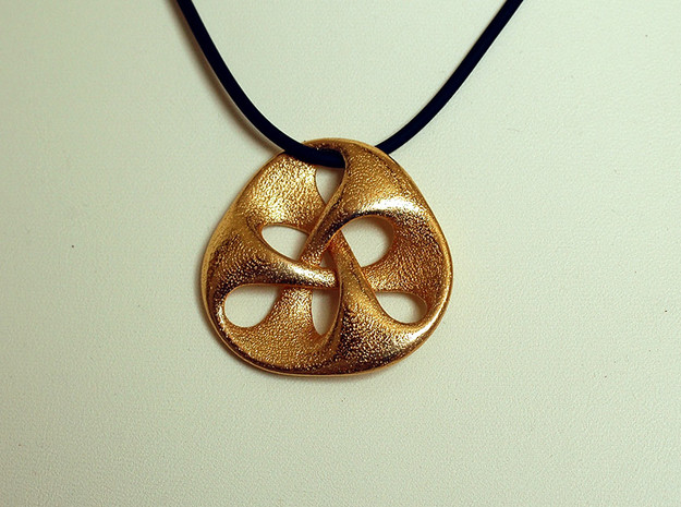 pendant III in Polished Gold Steel