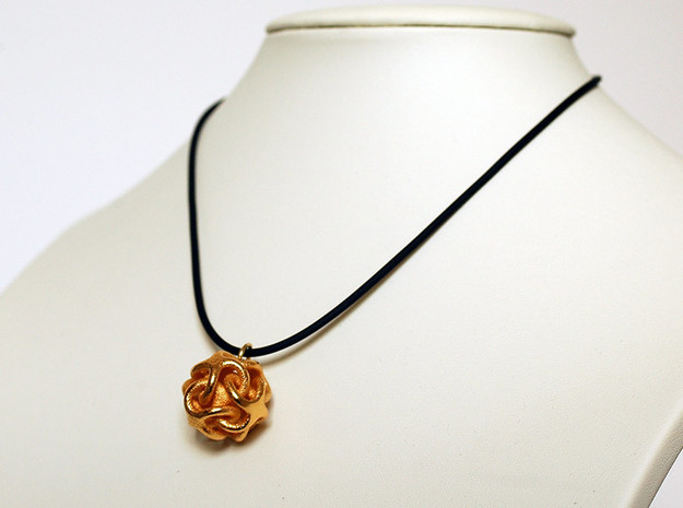 pendant  IV in Polished Gold Steel