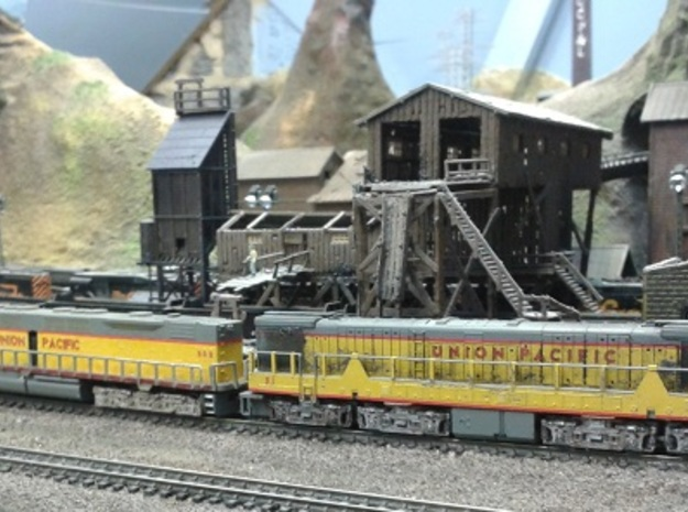 EMD DD35 N Scale 1:160 3d printed Union Pacific DD35